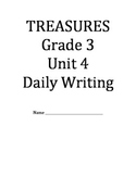 Treasures Reading Series Third Grade Writing Prompt Packet - Unit 4