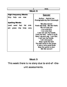 Treasures Reading Series Unit 1 Typed Weekly Stories