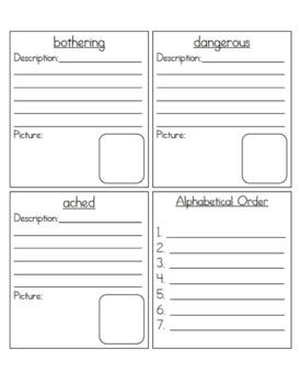 Treasures Reading Unit 2: Vocabulary Study Sheets- 3rd Grade