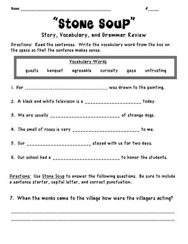 Treasures Reading Unit 3 Story, Grammar and Vocab Review
