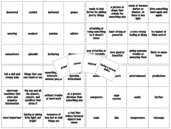 Treasures Reading: Vocabulary Matching Game- Unit 2: 3rd Grade