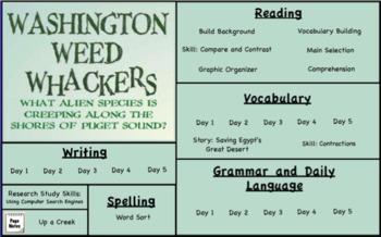 Treasures Reading- Washington Weed Whackers Unit 4 Week 3 Flipchart Third Grade