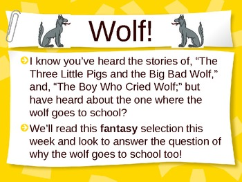 "Treasures Reading - ""Wolf"" Unit 1 - Vocabulary and Spelling"