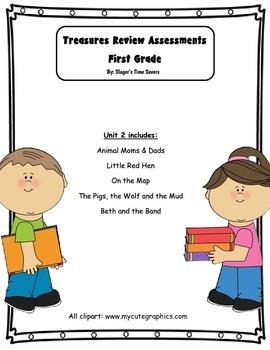 Treasures Review Assessments Unit 2 Bundle