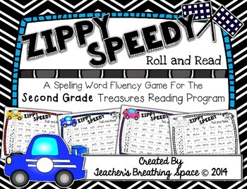 Treasures 2nd Grade - Zippy Speedy Roll And Read - Spellin