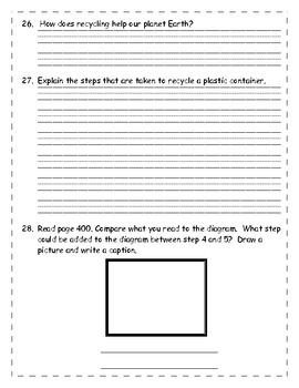"""Treasures Series """"A Way to Help Planet Earth"""" Common Core Assessment"""