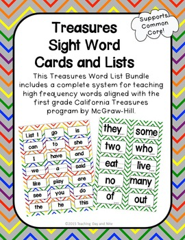 Treasures Sight Word Card Set
