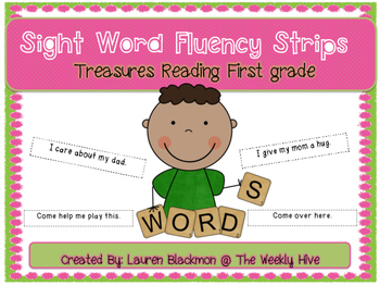 Treasures Sight Word Fluency Strips