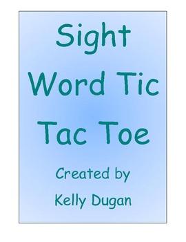 Treasures Sight Word Tic Tac Toe