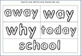 Treasures Sight Words First Grade- Unit 3