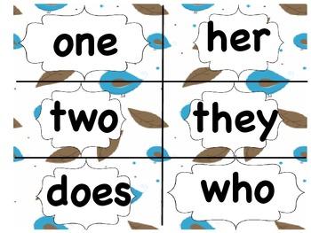 Treasures Sight Words and Vocabulary - Bird Themed