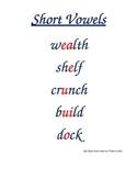 Treasures Spelling Focus Wall Units 1-6