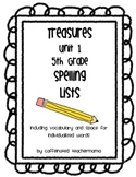 Treasures Spelling Lists Unit 1