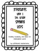 Treasures Spelling Lists Unit 1