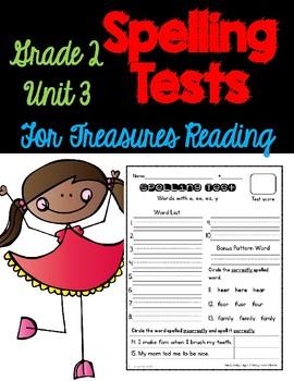 Treasures Spelling Tests Unit 3