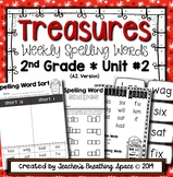 Treasures Spelling Word Lists and Resources --- 2nd Grade (Unit #2)