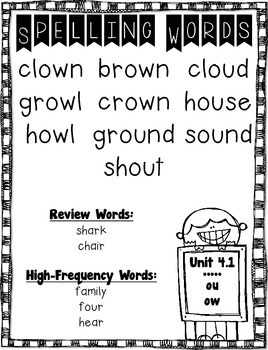 Treasures Spelling Word Lists and Resources --- 2nd Grade (Unit #4)
