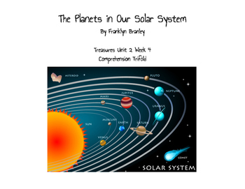 "Treasures ""The Planets in our Solar System"" Comprehension Trifold"
