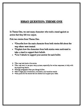 Treasures Theme 1 Grade 5 Essay Question  Common Core