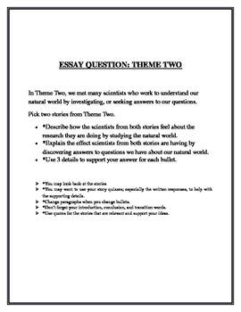 Treasures Theme 2 Grade 5 Essay Question Common Core