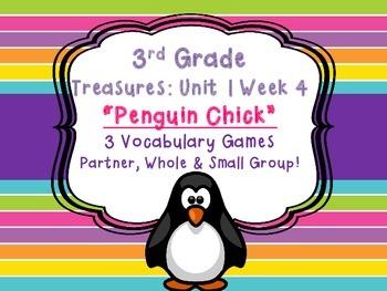Treasures Third Grade 3 Vocabulary Penguin Chick Games Uni