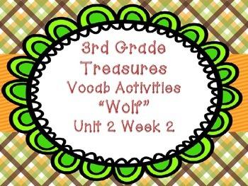 "Treasures Third Grade Unit 2 Week 2 ""Wolf"" Vocabulary Games Activities!"