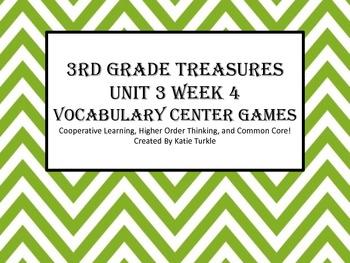 Treasures Third Grade Vocab Unit 3 Week 4 Jones Family Express Center Games