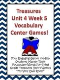 Treasures Third Grade Vocabulary Activities Games Unit 4 Week 5 My Very Own Room