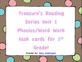 Treasure's Unit 1 Phonics & Word Work Task Cards for 1st Grade