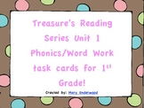 Treasure's Unit 1 Phonics & Word Work Task Cards for 1st Grade