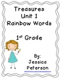 Treasures Unit 1 Rainbow Words and Flashcards