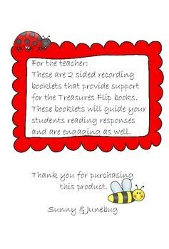 1st Grade Treasures Unit 1 Science Flip Book Recording Foldable Booklets