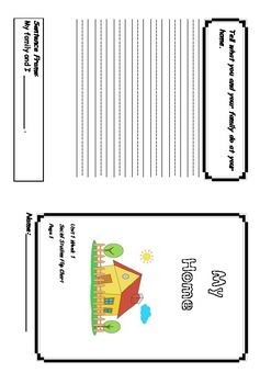 1st Grade Treasures Unit 1 Social Studies Flip Book Foldable Booklets