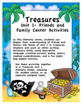 Treasures Unit 1 Thematic Center Activities