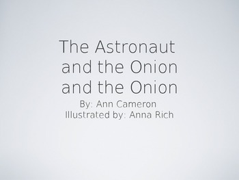 Treasures Unit 1 Vocabulary - Astronaut and the Onion