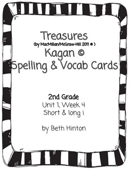 Treasures Unit 1, Week 4 Spelling and Vocab Cards