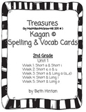 Treasures Unit 1- Weeks 1-5 Spelling and Vocab Cards