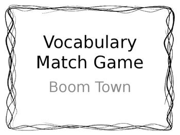 Treasures Unit 2 Vocabulary Game
