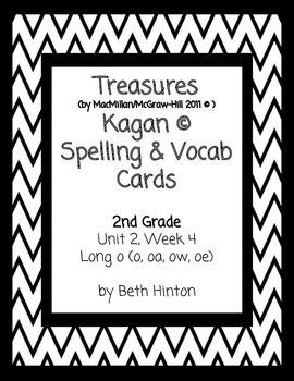 Treasures Unit 2, Week 4 Spelling & Vocabulary Cards