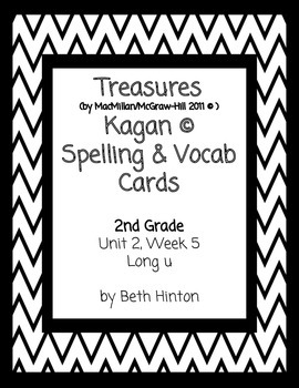 Treasures Unit 2, Week 5 Spelling and Vocab Cards