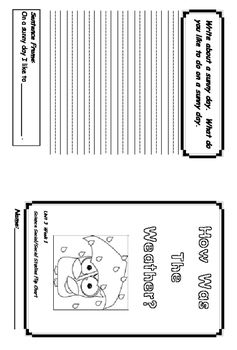 Treasures Unit 3 Science Flip Book Recording Foldable Booklets