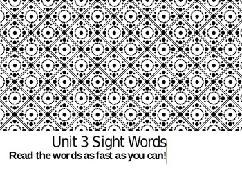 Treasures Unit 3 Sight Word PPT