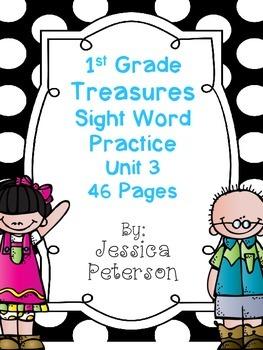 Treasures Unit 3 Sight Word Practice {1st Grade}