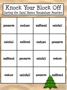 Treasures Unit 3 Week 3 Saving Our Sand Dunes Vocabulary Activity
