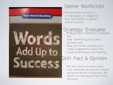 Treasures Unit 3 reading - Words Add Up to Success