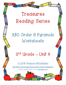 Treasures - Unit 4 -  Spelling Practice Pages
