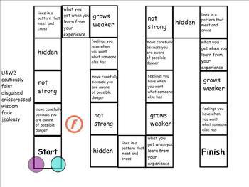 Treasures Unit 4 Vocabulary Games for 4th Grade