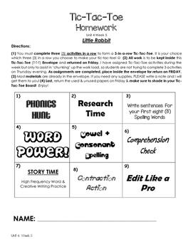 Treasures Unit 4 Week 5 Activities 1st Grade