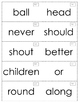 Treasures Unit 5 High Frequency Word Cards 1st Grade