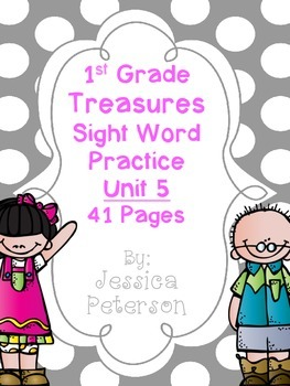 Treasures Unit 5 Sight Word Practice {1st Grade}